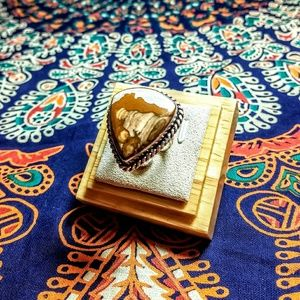 925 Silver Ring with Picture Jasper